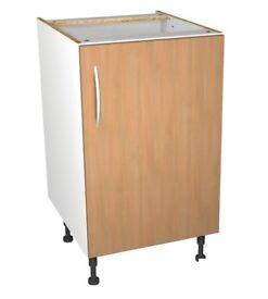 500mm Complete Kitchen Base Unit - Modern Oak Slab - BRAND NEW