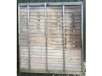 Wooden Shiplap Fence Panel 180cm tall x 162cm wide