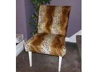 Lovely Petite Upcycled Vintage Animal Print Chair
