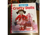 Jane Bull Crafty Dolls Arts Crafts Book Hardback Guide Game Toy