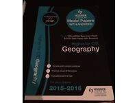 New Higher geography Model papers with answers