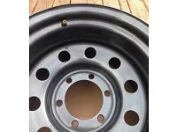 """Jap fitment 139.7 10jj x15"""" steel wheel 6 stud -32 offset.4x4 Mitsubishi pajero l200 Isuzu Vauxhal"""