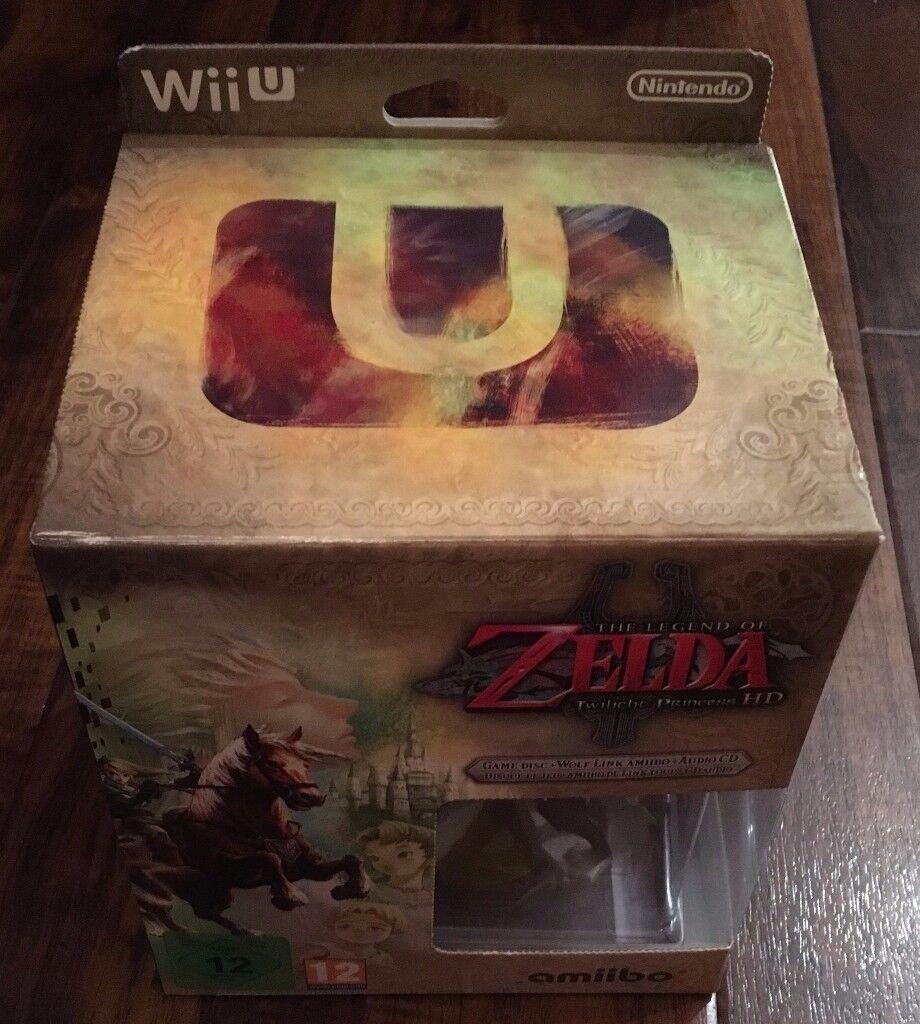 *SEALED* Nintendo Wii U Zelda Twilight Princess HD with Amiibo + Soundtrack CD