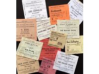 Old concert TICKET STUBS wanted for cash