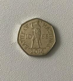 Battle of Hastings Rare 50 pence coin