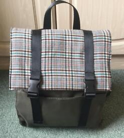 Rucksack Backpack Bag With Tartan Detail