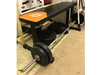 Exercise bench and bar
