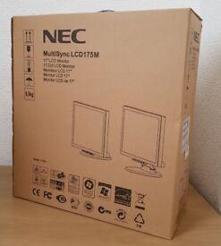 Brand new NEC Multisync LCD175M hd Monitor,Dvi,Vga,Bultin Speakers for PC Computer,CCTV etc