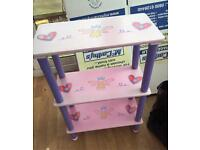 Kids fairy print shelving unit bookcase
