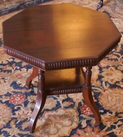 Victorian Walnut Octagonal Wine / Occasional Table