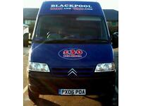 BLACKPOOL MAN AND VAN. 100% RELIABLE! FULLY INSURED! CHEAPEST AROUND!