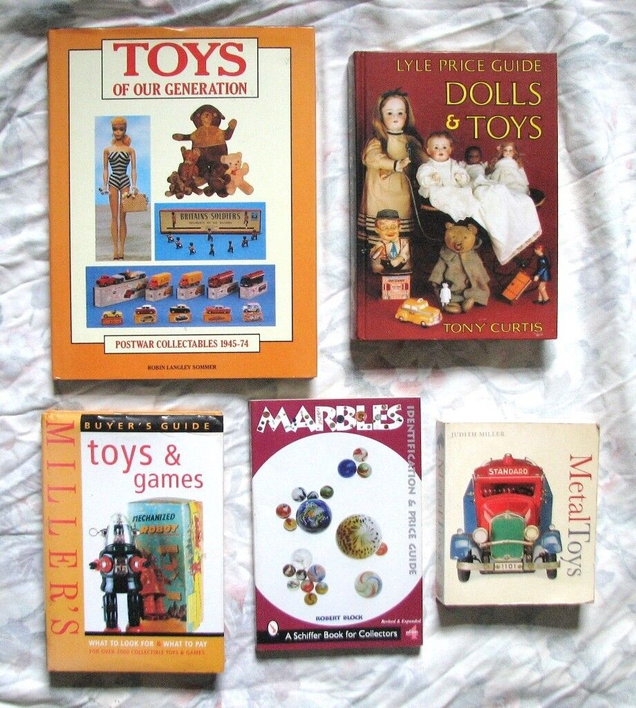 5 BOOKS ON VINTAGE/ANTIQUE TOYS