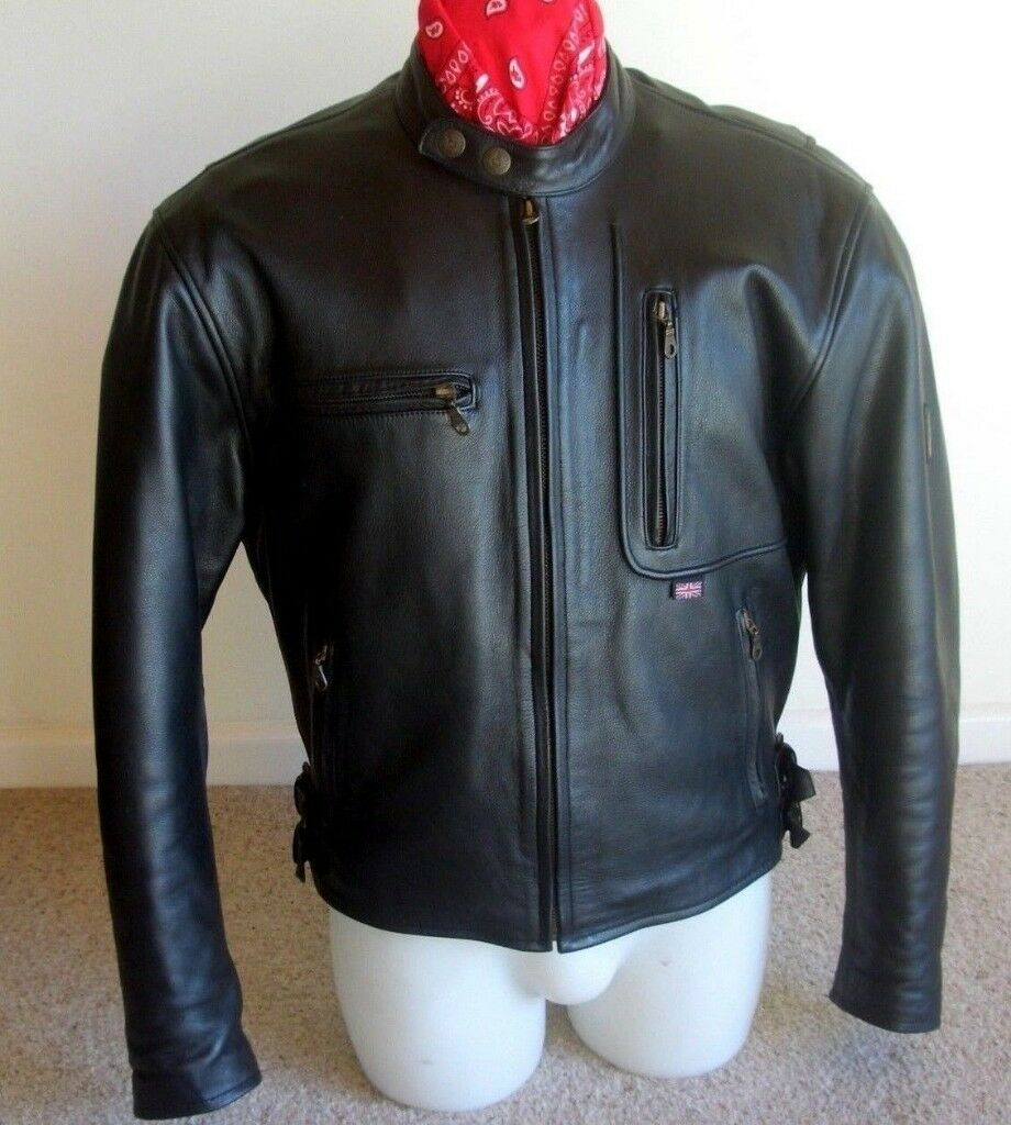 BELSTAFF MONTANA MENS LEATHER JACKET + TARTAN LINER SIZE UK 44 EURO 54