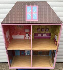 DOLLS HOUSE Krooom Cardboard Doll House Bookcase PLEASE SEE ALL 9 PHOTOS
