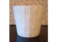 Home decor/Garden decor - 1 x KARDEMUMMA White Plant Pot 24cm from IKEA - As new condition