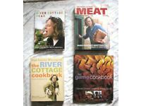 HUGE FEARNLEY WHITTINGSTALL BOOKS, PLUS 1 OTHER. THE RIVER COTTAGE COOK BOOK, MEAT, YEAR BOOK, GAME