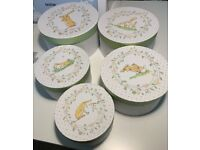 Beautiful children's set of 5 nesting storage boxes 'Guess how much I love you' design