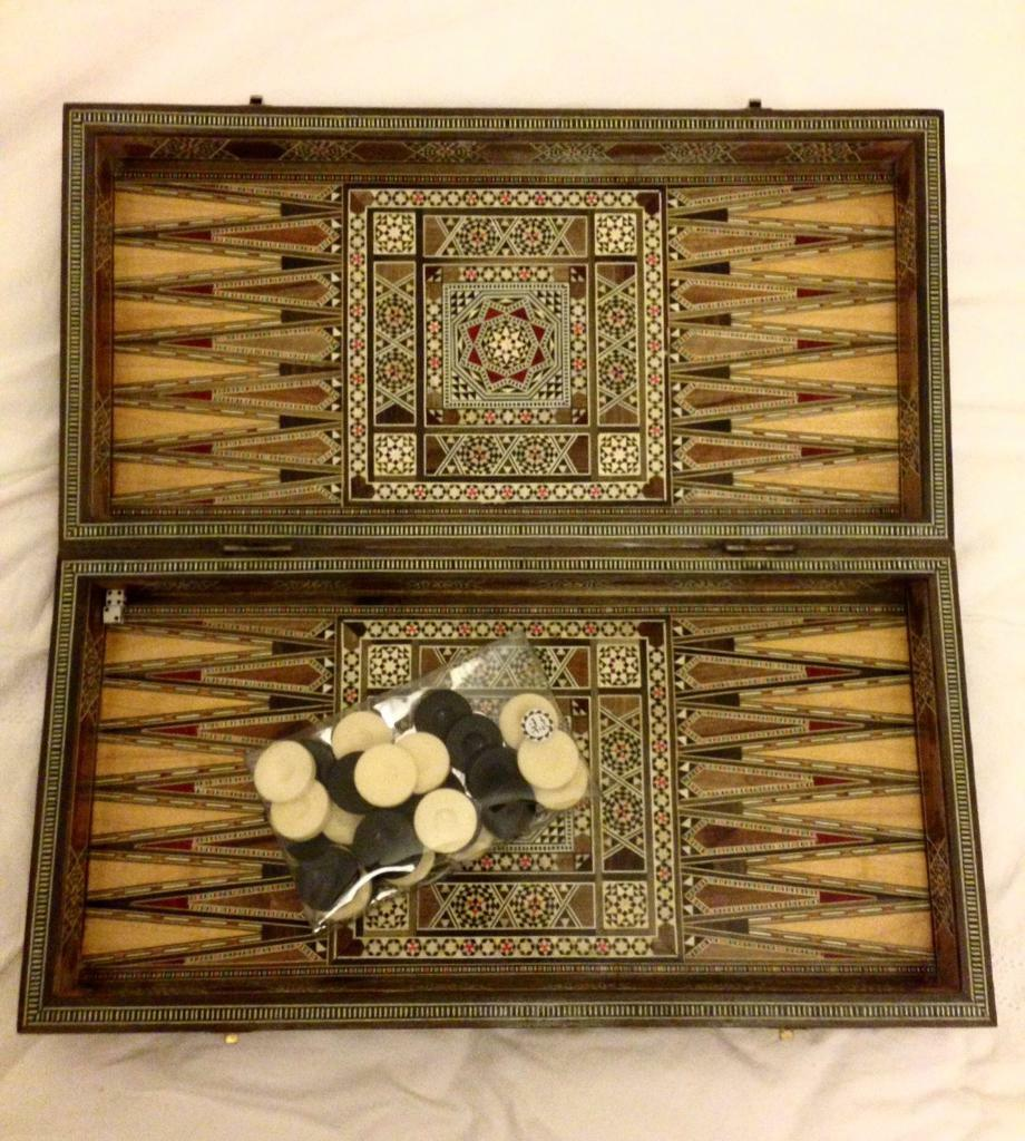 Ornate wooden game board
