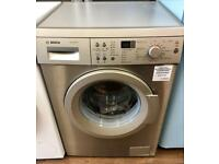BRAND NEW BOSCH AQUA SPA 8KG 1400 SPIN WASHING MACHINE SILVER STAINLESS STEEL BARGAIN ..!!