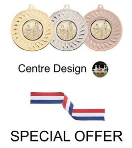OFFER-10-x-Ten-Pin-Bowling-45mm-Metal-Medals-Ribbon