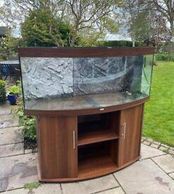 5ft Juwel Vision 450 dark marine tropical cold fish tank aquarium (delivery installation)