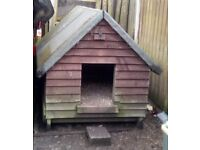 Solid Chicken Hut with easy access for cleaning
