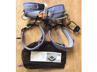 Woman's Climbing Harness with belay & carabiner - LIKE NEW