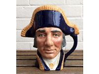 ROYAL DOULTON -LORD NELSON- LARGE CHARACTER TOBY JUG FIGURE D6336 HMS VICTORY ADMIRAL
