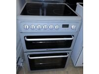 Hotpoint 60cm Electric cooker with fan oven, Grill, Ceramic Hob
