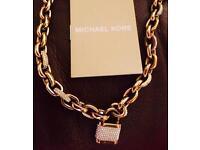 Michael Kors heavy padlock necklace