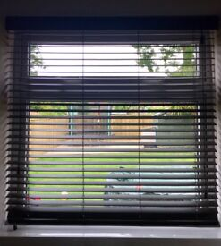 Dark wood Venetian blind. So22 area