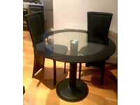 Glass top dining table and coffee table - £100 each or £180 for both