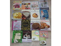 Job lot 36 assorted cookbooks and 6 recipe files