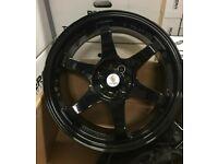"Ford Fiesta Ka Escort Sierra x4 17"" Stuttgart St16-N Alloy Wheels Black 4x108"