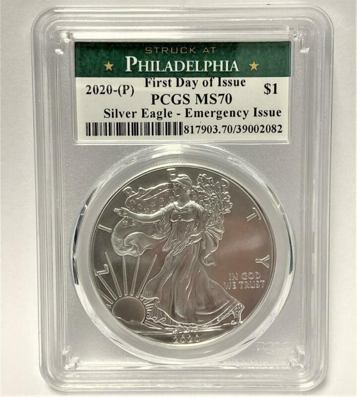 2020 (P) 1oz American Silver Eagle MS-70 PCGS (FDI Philadelphia) Emergency Issue