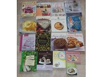 37 assorted cookbooks and 6 recipe files