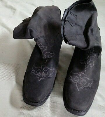 Santa fe high quality  leather upper + lining 8.5M womens western boots