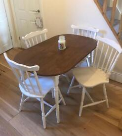 4 seater table and chairs ( shabby chic boutique)