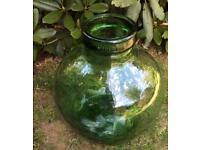 Vintage Viresa Very Large Green Glass French Terrarium Demijohn Carboy Bottle