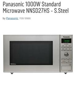 Panasonic stainless steel microwaves