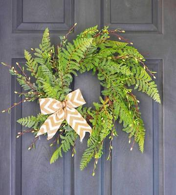 Wreath Door Decoration - 🌸Artificial Wreath🌸Front Door KnottedBow Home Decor Display Rustic Farmhouse