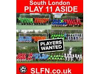 URGENT! Football team looking for players. Find football. 11 aside football. PLAY 11 ASIDE SOCCER
