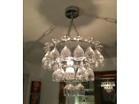 Wine glass light chandelier