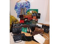 Wholesale Vintage Fashion Accessories Job Lot / Shop stock . Handbags, Jewellery OVER 70 ITEMS