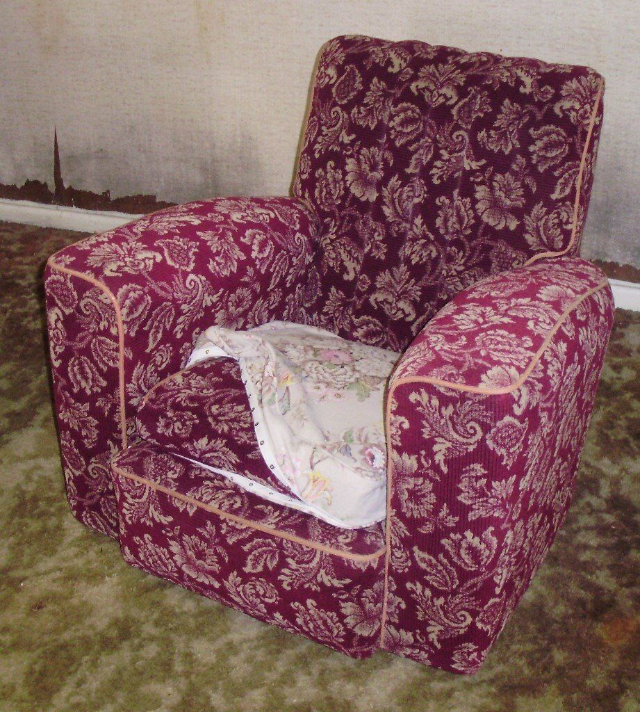 Art deco vintage leather sofa armchair - 3 Piece Suite Moquette Sofa Arm Chairs Settee Ww2 Vintage