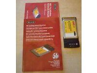 Belkin wireless Notebook Network Card - model F5D7010xx 802.11g 54g