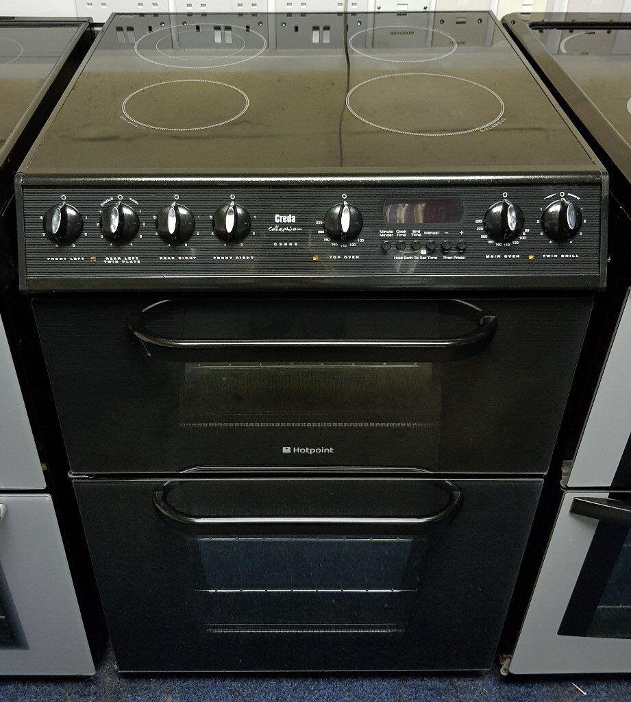 Black Hotpoint 60cm Cooker - 12 Months Warranty - £190