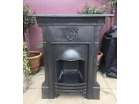 Antique Victorian Fireplace (Cast Iron)