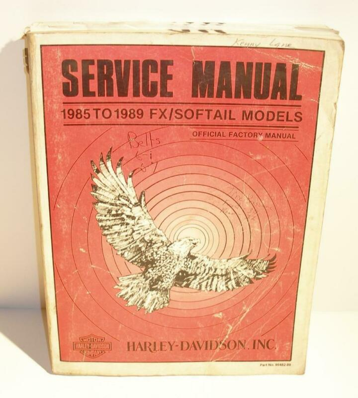 Official Factory Harley Davidson SERVICE MANUAL 1985 to 1989 FX/Softail Models
