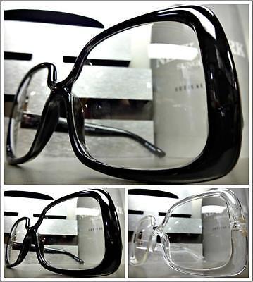 OVERSIZED VINTAGE RETRO Style Clear Lens EYE GLASSES Huge Square Fashion Frame](Huge Eyes)